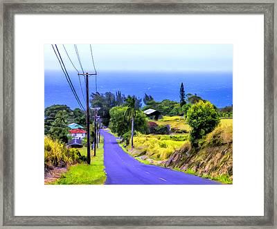 Down Into Honokaa Framed Print