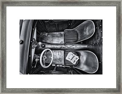Down Into The Bucket Framed Print by CJ Schmit