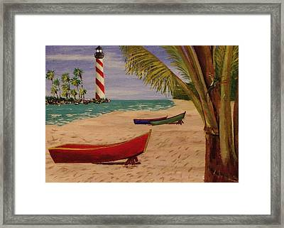 Down Jamaica Way Framed Print