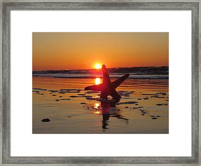 Down Low Beach Framed Print