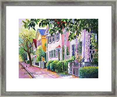 Down On Franklin Street Framed Print by Alice Grimsley