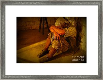 Down On His Luck Framed Print