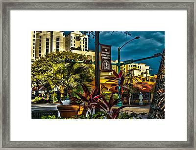 Down On Main Street Framed Print