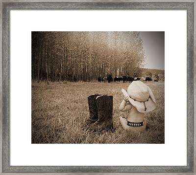 Down On The Farm Framed Print by Kami McKeon