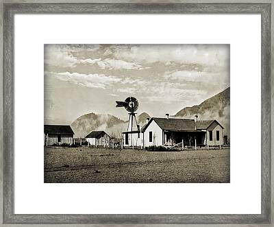 Down On The Farm Framed Print by Susan Leggett
