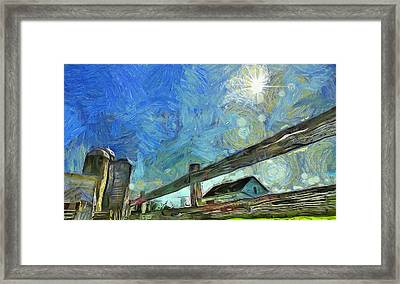 Down On The Farm Van Gogh Framed Print by Dan Sproul