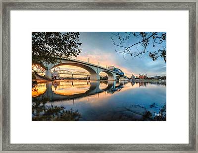 Down On The River Framed Print