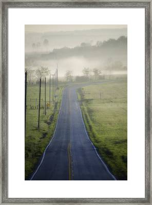 Down Roads Unknown Framed Print by Bill Cannon