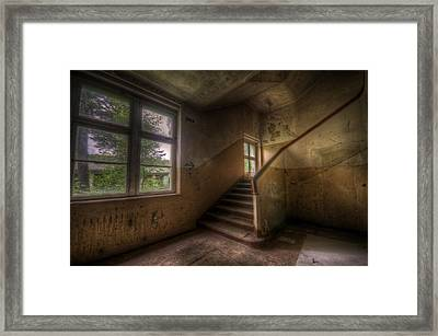 Down Stairs Framed Print by Nathan Wright