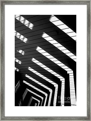 Down Stairs Framed Print