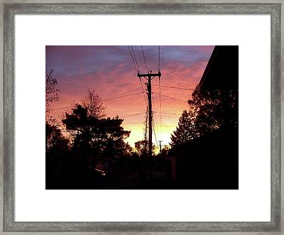 Down The Alley Sunrise Framed Print by Thomas Woolworth