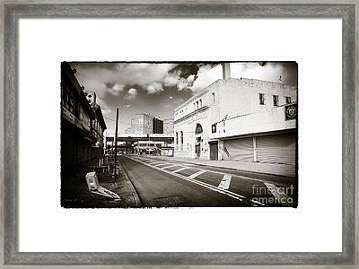 Down The Avenue Framed Print by John Rizzuto