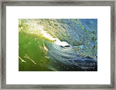 Down The Barrel Framed Print by Paul Topp