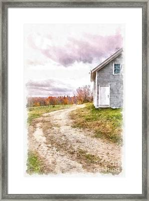 Down The Country Lane Framed Print by Edward Fielding