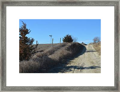 Down The Country Road Framed Print by Renie Rutten