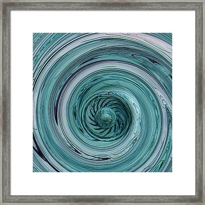 Down The Drain Framed Print