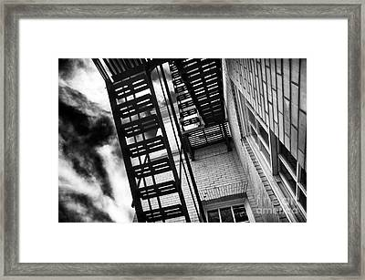 Down The Fire Escape Framed Print by John Rizzuto