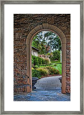 Down The Garden Path Framed Print