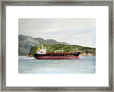 Down The Guemes Channel San Juan Islands Wa Framed Print by Sandy Linden