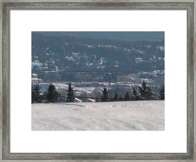 Down The Hill Framed Print by Adam Smith