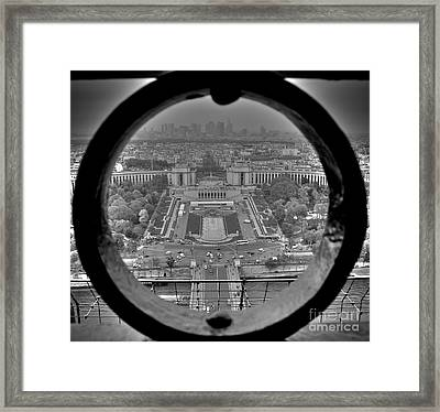 Down The Hole Framed Print
