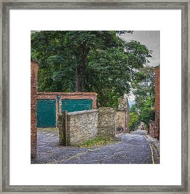 Down The Lane Framed Print by Zen Williston