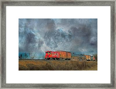 Down The Line Framed Print by Betsy Knapp