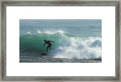 Down The Line Framed Print by Donna Blackhall