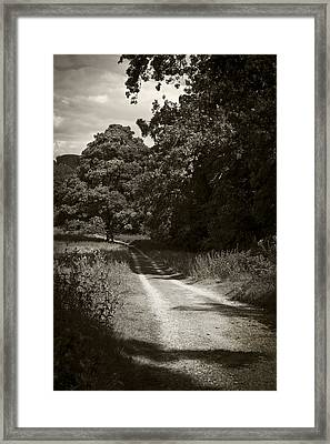 Framed Print featuring the photograph Down The Old Farm Track by Stewart Scott