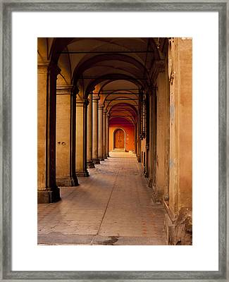 Down The Portico Framed Print by Rae Tucker