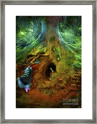Down The Rabbit Hole Framed Print by Aimee Stewart