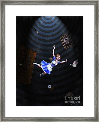 Down The Rabbit Hole Framed Print by Methune Hively