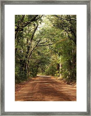 Down The Road A Piece  Framed Print by Kim Thompson