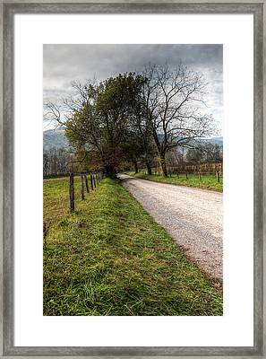 Down The Road Framed Print by E Mac MacKay