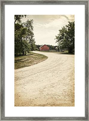 Down The Road Framed Print by Margie Hurwich
