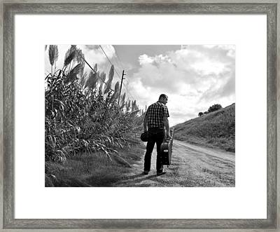 Down The Road Framed Print by Thomas Leon
