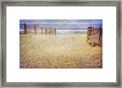 Framed Print featuring the photograph Down The Shore by Debra Fedchin