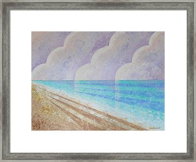 Down The Shore Framed Print by James Cordasco