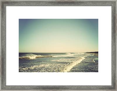 Down The Shore - Seaside Heights Jersey Shore Vintage Framed Print by Terry DeLuco