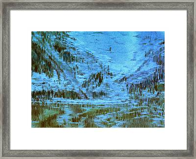 Down The Slope Framed Print by Jack Zulli