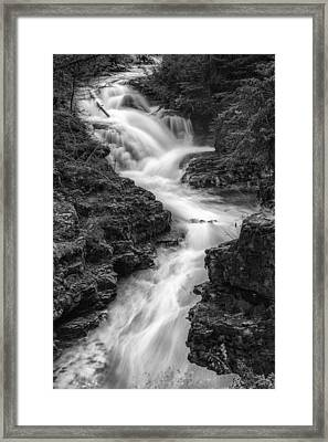 Down The Stream Framed Print