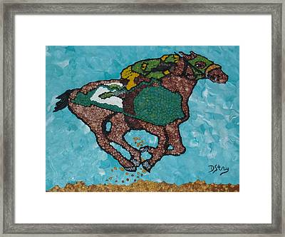 Down The Stretch Framed Print