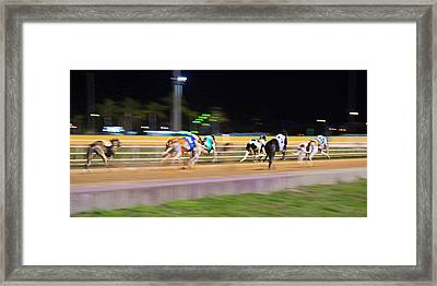 Down The Track Framed Print by Keith Armstrong