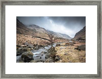Down The Valley Framed Print by Christine Smart