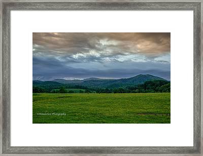 Down The Valley Framed Print by Paul Herrmann