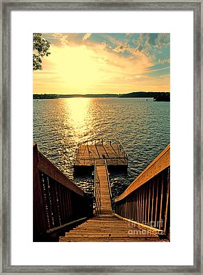 Down To The Fishing Dock - Lake Of The Ozarks Mo Framed Print