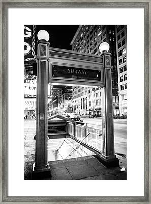 Down To The Red Framed Print