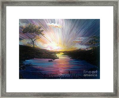 Down To The River Framed Print