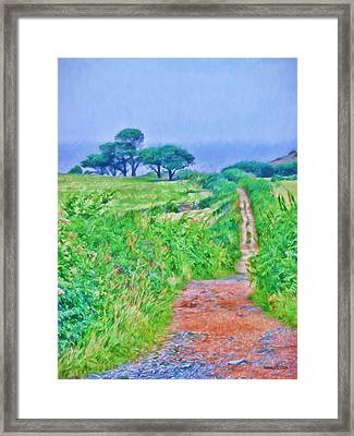 Down To The Sea Herm Island Framed Print