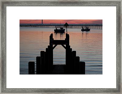 Down To The Sunset Sea Framed Print